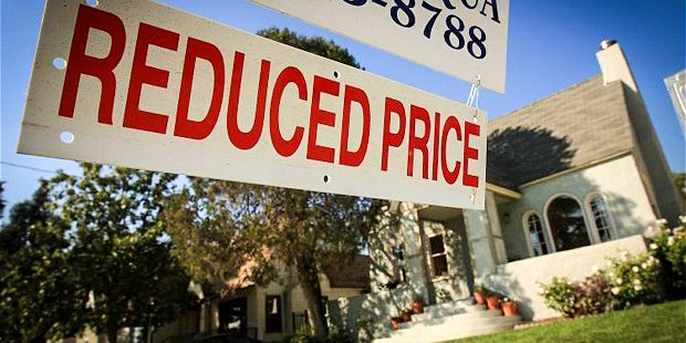 Falling house price
